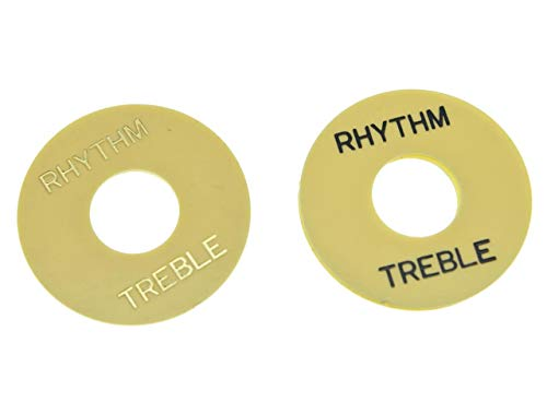 KAISH Cream/Black Cream/Gold LP Guitar Toggle Switch Washer Rhythm Treble Ring Plate for Les Paul
