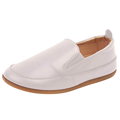 (Toddler Kids child Boys Shoes Leather Soft Sole Slip On Loafers Shoes)