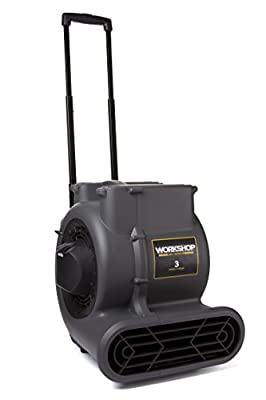 WORKSHOP WS1625AM Air Mover Fan & Carpet Dryer, High Velocity Blower Fan / Floor Dryer with Collapsible Handle & Wheels