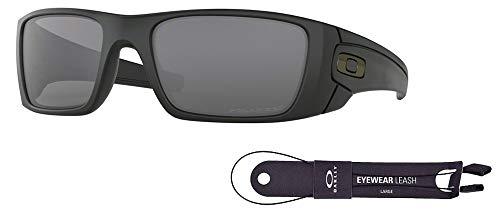 Oakley Fuel Cell OO9096 909605 60M Matte Black/Grey Polarized Sunglasses For Men+BUNDLE with Oakley Accessory Leash Kit