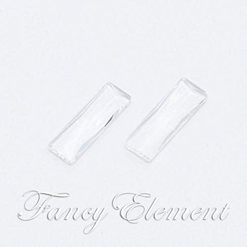 FidgetKute 8x24mm Glass Baguette 4547 unfoiled Clear Sew On Rhinestones Point Back Crystal No 12 pcs