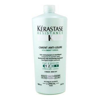 Kerastase Resistance Ciment Anti-Usure Reinforcing And Resurfacing Treatment (For Damaged Lengths & Ends) 1000ml/34oz by Kerastase