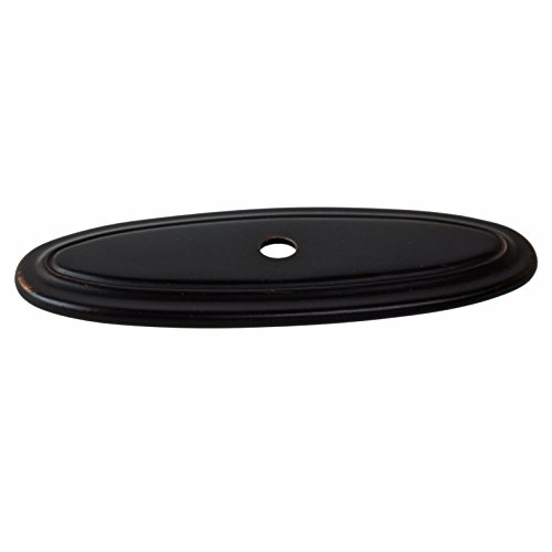 GlideRite Hardware 1034-ORB-50 Thin Oblong Ring Cabinet Back Plate, 50 Pack, 3'', Oil Rubbed Bronze by GlideRite Hardware (Image #1)