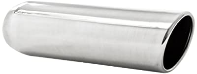 "MBRP T5137 3.5"" O.D. 2.25"" Inlet 12"" Length T304 Stainless Steel Angled Cut Rolled Exhaust Tip"