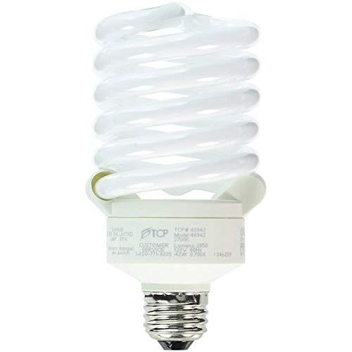 TCP 150 Watt Equivalent Single-Pack CFL Full Springlamp Light Bulb, Non-Dimmable, Soft White 48942
