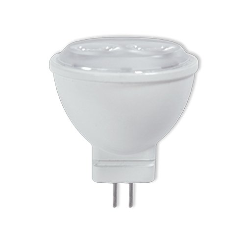 Bi Pin Base Reflector - Bulbrite 771500 LED3MR11NF/3000K 3W Dimmable 20W Equivalent LED MR11 Reflector with Bi-Pin GU4 Base, Soft White