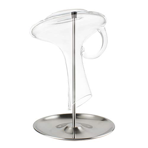 MyLifeUNIT Wine Decanter Drying Stand, Stainless Steel Decanter Drying Rack with Tray