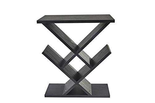 Adesso WK4614-01 Zig-Zag Accent Table - Table Bookshelf - Storage Side Table. Home Furnishings and Decor