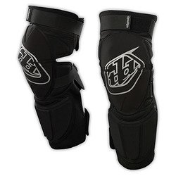 Troy Lee Designs Panic Long Adult Knee Guard MotoX Motorcycle Body Armor - Black/X-Small/Small