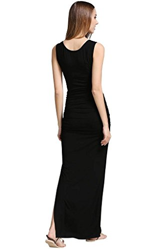 Soft Black maniche opaco Senza Donna buenos Vestito ninos qwO7x7TU