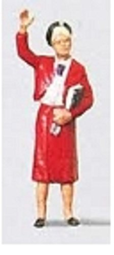 LADY RAILWAY OFFICIAL - PREISER HO SCALE MODEL TRAIN FIGURES 28006 by Preiser by Preiser