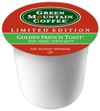 Green Mountain Coffee Light Roast K-Cup for Keurig Brewers, Fair Trade Golden French Toast Coffee (Pack of 96) -