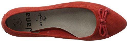 Jana 22202, Zapatos de Tacón para Mujer Rojo (Chili 533)