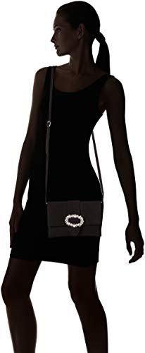 H ks Zgio 22x4x16 B T Black Unisa Pochettes femme Noir cm x qnvg5dRx
