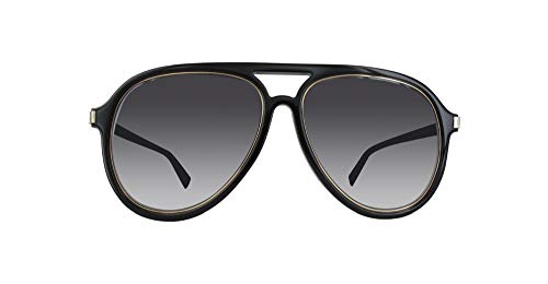 Marc Jacobs Men's Marc174s Aviator Sunglasses, BLACK GOLD/DARK GRAY GRADIENT, 58 mm
