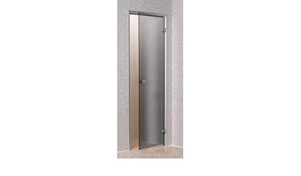Desconocido Transparente para Hammam 60 x 190 cm en Marco de Aluminio de Puerta de Vidrio Templado de 8mm Seguridad: Amazon.es: Hogar