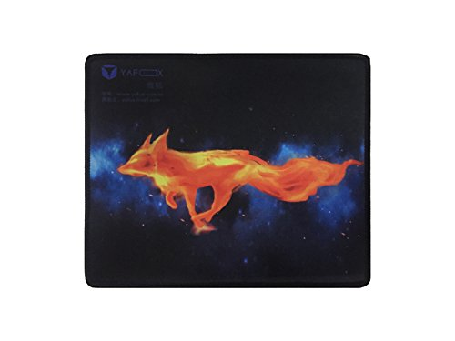 ZAIDTEK Anti Slip Cloth and Natural Rubber Mouse Pad 3mm Thick for Home and Office Not Fad Fire Fox Pattern Locking Edge-Black