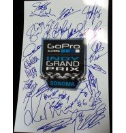 Signed Indy Grand Prix At Sonoma (2013) 12x18 Photo By The Entire field of Indy Car Racers 25 Signatures total autographed by Powers Collectibles