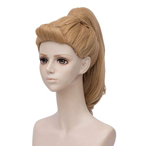 Blonde Cosplay Wig with 1 Clip on Ponytail for Adora Heat Resistant Custome Wigs for Women -