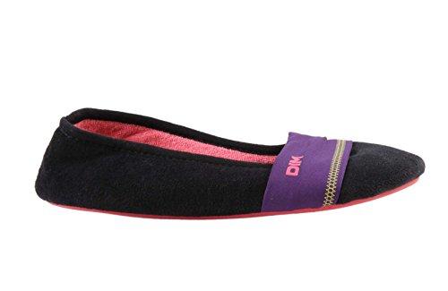 Dim chaussons à enfiler - noir - femme