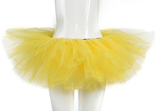belababy Yellow Women Tutu Classic 5 Layers Tulle Skirt, One -