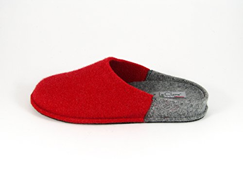 Pantofole da Donna Invernali Bicolore Rosso