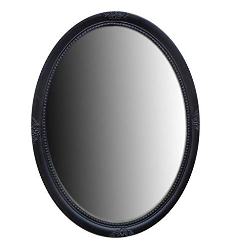 Sdvh Metal Framed Wall Mounting Mirror, Oval Entrance Mirror Chrome Decorative Mirror for Living Room Or Bathroom 31.1x32.22