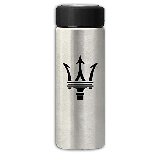 LightCa Maserati Trident Logo Insulation Scrub Business Water Bottles Gray One Size ()