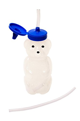 Talktools Honey Bear Drinking Cup with 2 Flexible Straws - Includes Instructions - Spill-proof Lid by TalkTools