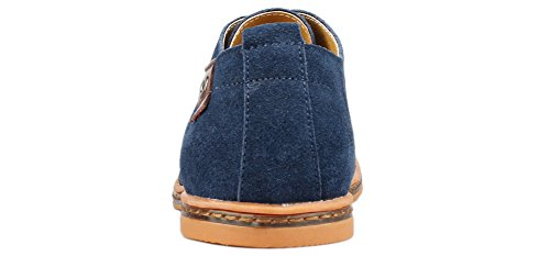Kunsto Shoes, Chaussures de ville à lacets pour homme Bleu - bleu