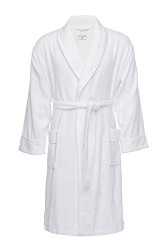 Pure Fiber Kensington Terry Robe - Men Bamboo Viscose Cot...