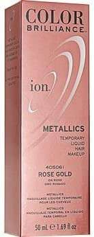 Ion Color Brilliance Metallics Temporary Liquid Hair Makeup Rose Gold DUO SET by Ion