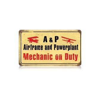 Past Time Signs V210 Airframe Mechanic Aviation Vintage Metal Sign