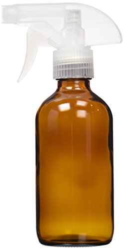 ZenXoilz 8oz - Single Amber Glass Bottle with Trigger Sprayer for Aromatherapy Oils