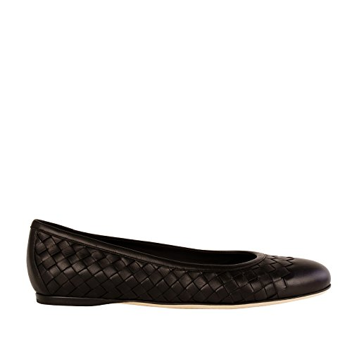 Bottega Veneta Women's 370132V00131000 Black Leather Flats