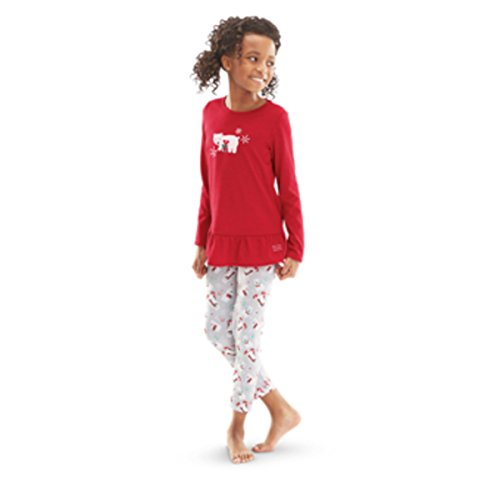 Playful Polar Bear (American Girl Truly Me Playful Polar Bear Pajamas for Girl XL18/20 Red PJs NEW)