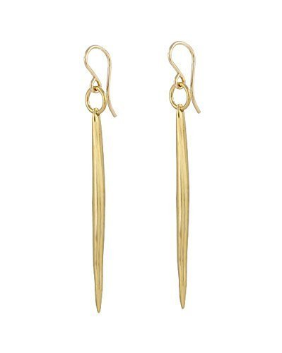 As seen on Arrow - Large Quill Earrings, gold overlay