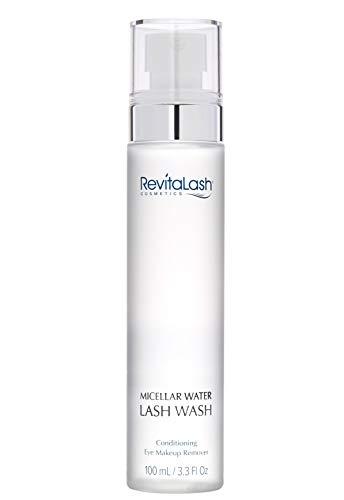 RevitaLash Cosmetics, Micellar Water Lash Wash – Conditioning Eye Makeup Remover, Hypoallergenic Cruelty Free