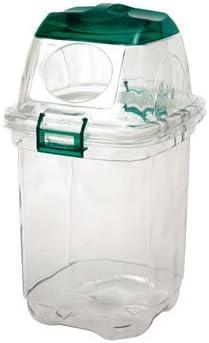 セキスイ 透明エコダスター 35L ペットボトル用 緑 TPDD35G 4個入