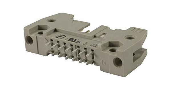 SEK Standard Series Through Hole Header 2 Rows 6 Contacts HARTING 9185067914 Wire-to-Board Connector 2.54 mm