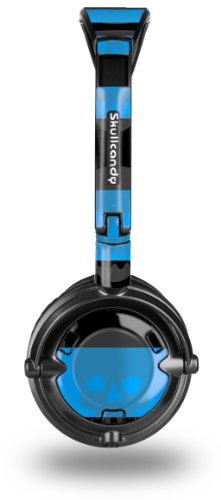 Skull Stripes Blue Decal Style Skin fits Skullcandy Lowrider Headphones (HEADPHONES SOLD SEPARATELY)