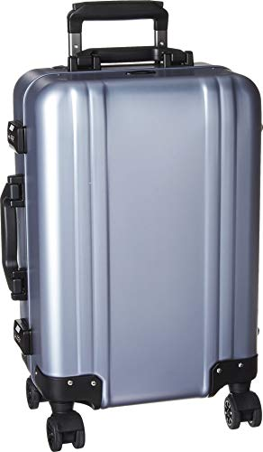 Zero Halliburton Classic Aluminum 2.0 Carry-On 4 Wheel Spinner Travel Case (Polished Blue) ()