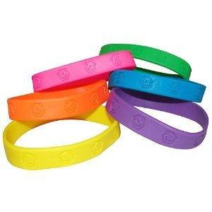 Fun Express Party Favors 24 -Rubber Neon Monkey Bracelets]()