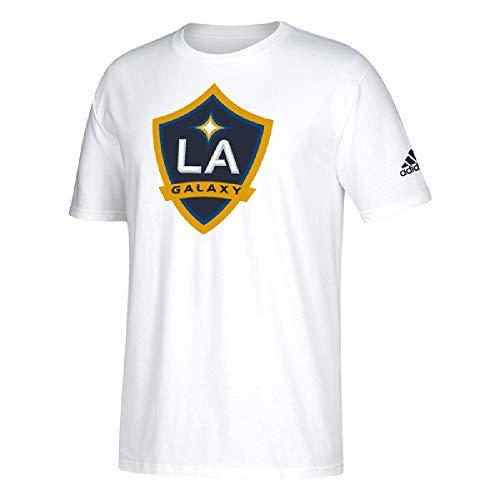 adidas LA Galaxy Men's Team Logo T-Shirt (White, Large)