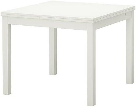 Ikea Bjursta Table à Rallonge Blanc 90 129 168 X 90 Cm