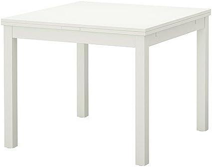 Ikea Bjursta Extending Table In White 90 129 168x90 Cm Amazon Co Uk Kitchen Home