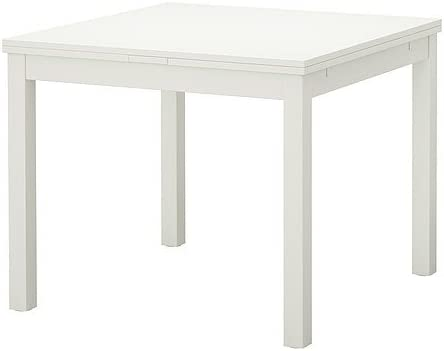Ikea Bjursta Extendable Table In White 90 129 168 X Cm Amazon De Kuche Haushalt