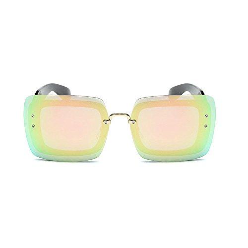 Aoligei Europe et les États rétro cadre généreux centaines miroir mercure  surface film lunettes de soleil eaa8b4ef4c4d
