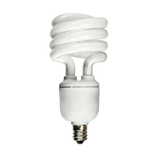 13 Watt CFL Light Bulb - Compact Fluorescent - 60 W Equal - Full Spectrum 5000K - - Candelabra Base - GCP - Full Compact Spectrum