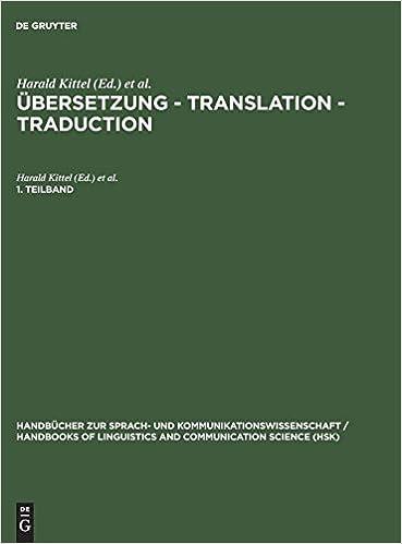 Übersetzung - Translation - Traduction. 1. Teilband: Ein ...